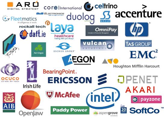 Intel; HP; Ericsson; SoftCo; Aegon; HMH; Openet; Akari; Openjaw; Duolog; Vulcan